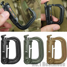 New 4Pcs Grimloc D-ring Tactical Molle Locking Webbing Buckle Carabiner