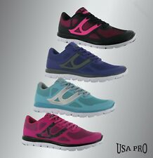 Ladies Branded USA Pro Lightweight Breathable Zircon Trainers Gym Shoes Size 3-8