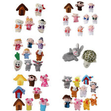 Family Finger Puppets Baby Educational Toy Story Kids Gift Nursery Fairy Tales