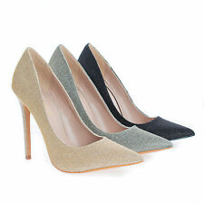 Shiner Shimmering Pointy Toe Classic Stiletto High Heel Dress Pumps