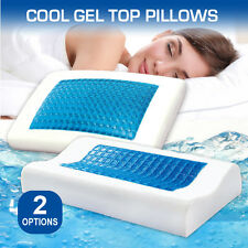 Deluxe Density Memory Foam Pillow with Cooling Gel Top with Cover(Flat&Curved)