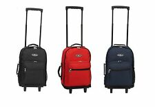 "Wheeled Rolling 17"" Carry on Travel Backpack 1045WH"