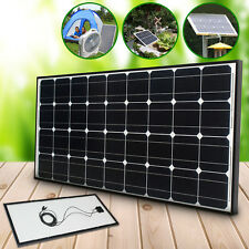 100W Mono Solar Panel + Cable for 12V Battery Motorhome Caravan Boat Camper Home