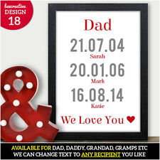 Fathers Day Personalised Gifts, Greetings Cards, Presents for Dad Daddy Grandad