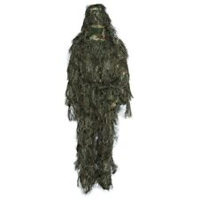 Camo 3D Woodland Sniper Ghillie Suit Tactical Bionic Camouflage Hunting Set 4PCS