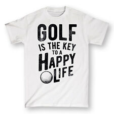 Golf Is The Key To A Happy Life Funny Golfing Sports Humor Novelty Mens T-Shirt