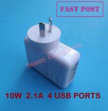 4 USB Ports Wall Charger for iPhone iPad Air Mini iPod All Series AU Plug 10W