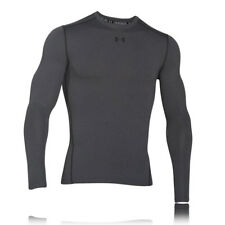 Under Armour Mens Grey Coldgear Compression Crew Neck Warm Running Top