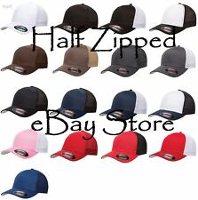 24 Flexfit Trucker Cap Fitted Mesh Baseball Hats 6511 One Size Hat WHOLESALE