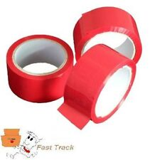 RED COLOURED Packing Parcel Tape 50mmx66m  *FREE PP*