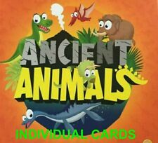 Orange Woolworths Ancient Animal Cards Individual, Single # All numbers 1 - 40