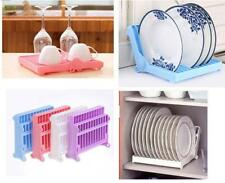 Foldable Kitchen Tray Dish Plate Drying Rack Organizer Drainer Storage Holder