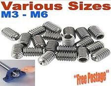M3 M4 M5 M6 GRUB SCREWS A2 STAINLESS STEEL HEX SOCKET CUP POINT