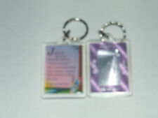 PERSONALISED KEYRING GIRLS NAMES BEGINNING WITH (G) INCLUDES THE MEANING OF NAME