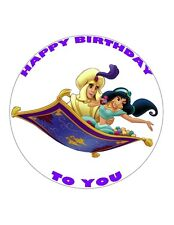 "7.5"" ALADDIN PERSONALISED EDIBLE FONDANT/WAFER RICE CAKE TOPPER"
