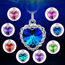 Elegant Charm Women Silver Plating Zircon Lucky Hearts Necklace For Lady Gift