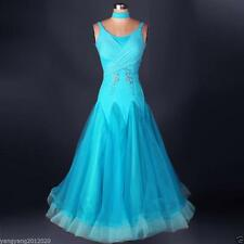 Standard  Ballroom Turquoise Competition Dance Evening Dress Modern Waltz Tango
