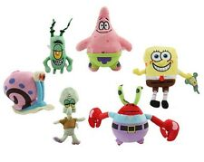 6PCS New SpongeBob SquarePants Patrick Star Squidward Tentacles Plush Soft Toys