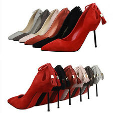 Sexy Women's New Shoes Stiletto Sandals Pointed-toe High Heels Red Bottom Pumps