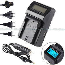 Wall/CAR LCD Battery Charger For Canon LP-E6 EOS 7D 80D 6D 70D 5D II III 5DS USB