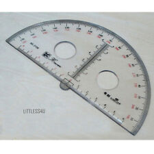 180 Degree Acrylic Clear Protractor Angle Ruler Round School Math Office tool