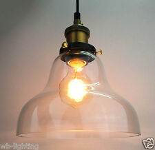 Modern Industrial Clear Glass Ceiling Lamp Shade Pendant Hanging Light Fitting