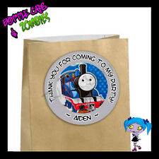 Thomas the Train Birthday Party Favor Goody Bag STICKERS - Personalized GRY