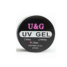 Nail Art UV Gel Builder Tips Glue Pink Clear White Extension Manicure 1pc New