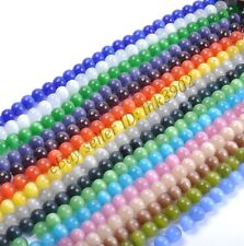 4MM,6MM,8MM,10MM,12MM - Choose 16ColorMixed Cat Eye Gemstone Round Loose Beads