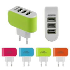 3.1A Triple 3 USB Ports Wall Home Travel AC Charger Adapter Universal EU Plug