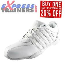 K Swiss Mens Arvee 1.5 Classic Casual Retro Leather All White Trainers