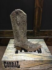 NEW! Corral ladies boots - brown crater bone inlay with studs