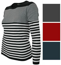 Women's Striped Pullover High Quality Thin Horizontal Stripes Sweaters SW370