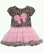 Rare Editions Infant Girls Birthday Tutu Dress Giraffe Print 6 9 Months NWT