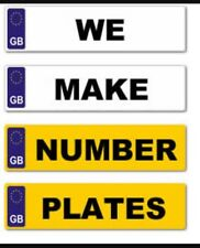 PAIR QUALITY CAR NUMBER PLATES AND SHOW PLATE'S 100% ROAD LEGAL MOT COMPLIANT