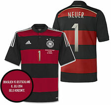 ADIDAS M. NEUER GERMANY AWAY JERSEY SEMIFINAL DETAIL FIFA WORLD CUP BRAZIL 2014