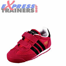 Adidas Originals Dragon CF Velcro Infants Toddlers Girls Trainers Pink