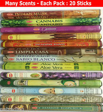 1x Hem Incense Sticks Pack Indian Made Many Scents 20 Sticks Pack *** OFFER **