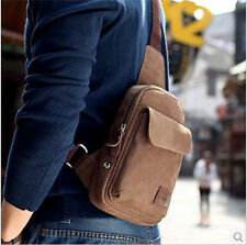 Mens Vintage Canvas Backpack Travel Messenger Shoulder Sling Hiking Chest Bag
