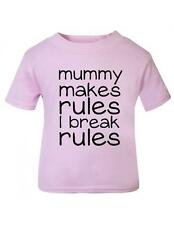 Baby / Toddler 'Mummy makes rules I break rules' Baby / Toddler t-shirt Tee
