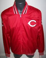 CINCINNATI REDS Ripstop Nylon Jacket with attached hood S M L XL 2X 3X RED
