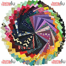 30x PATCHWORK SQUARES CHARM PACK Bundles Packs - 100% COTTON Quilting Fabric