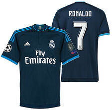 ADIDAS CRISTIANO RONALDO REAL MADRID UEFA CHAMPIONS LEAGUE THIRD JERSEY 2015/16