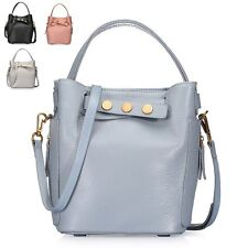 Summer Bucket Leather Tote Handbags Ladies Shoulder Crossbody Bags Satchel