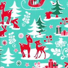 FQ, Michael Miller Yule Critters Winter Christmas  Fabric Sold by Fat Quarter