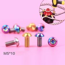 6pcs M5*10mm Titanium Disc Brake Rotor Bolts Screw  for MTB Avid Shimano Sram
