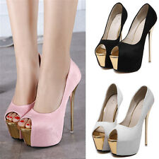 Sexy Lady High Heel Platform Pump Sandal Women New Stiletto Peep-Toe Party Shoes