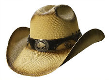 BUFFALO SOLDIER Austin Shapeable Straw Cowboy Hat with Cattleman Crown
