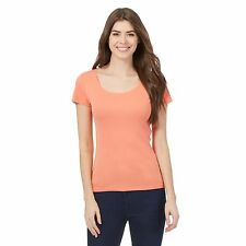 The Collection Womens Peach Scoop Neck Tee From Debenhams