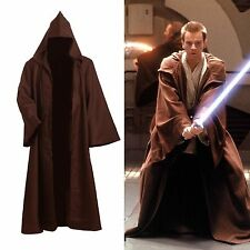 Star Wars Adult Hooded Jedi Brown Robe Costume Cosplay Standard Size S-3XL